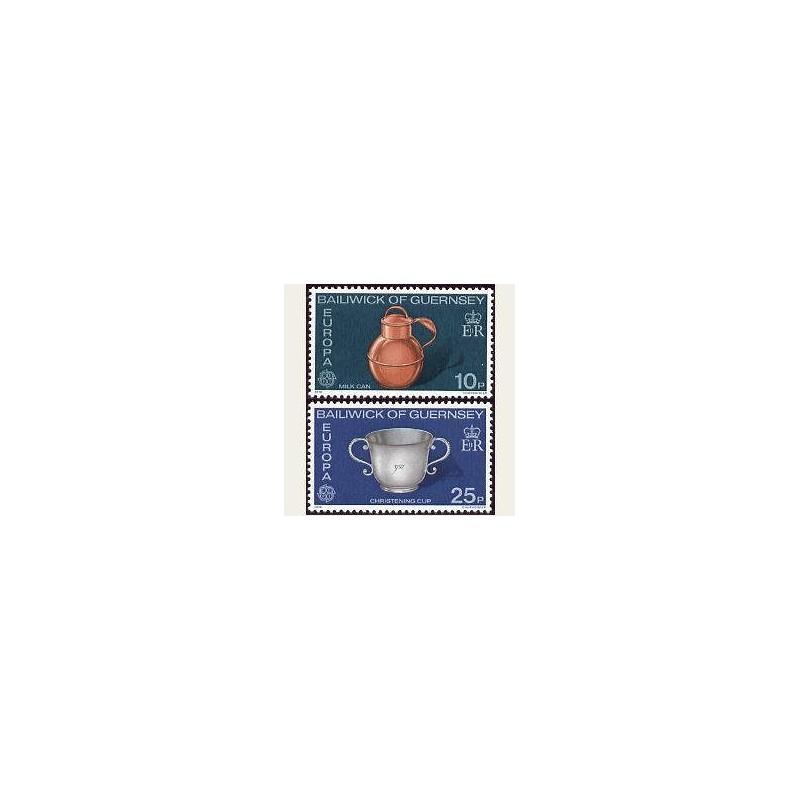 1976 Guernsey. Europa CEPT (128/29) **