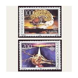 1986 Yugoslavia. Europa CEPT (Yver.2033/34) **