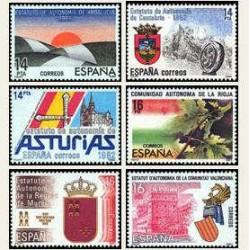 1983 Sellos de España (2686-91). Estatutos de Autonomía. **