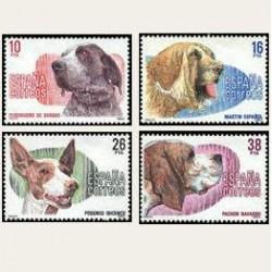 1983 Sellos de España (2711-14). Perros de Raza Española. **