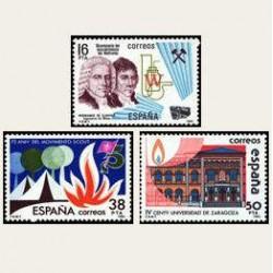 1983 Sellos de España (2715-17). Grandes Efemérides. **