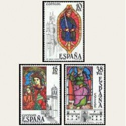 1983 Sellos de España (2721-23). Vidrieras Artísticas. **