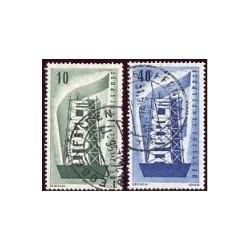 1956 Alemania. Europa CEPT. (Yver.117/18) Ø