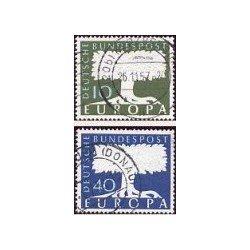 1957 Alemania. Europa CEPT. (Yver.140/41) Ø