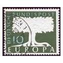 1957 Alemania. Europa CEPT. con filigrana (Yver.166) Ø