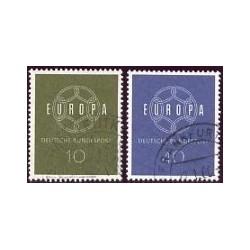 1959 Alemania. Europa CEPT. (Yver.193/94) Ø
