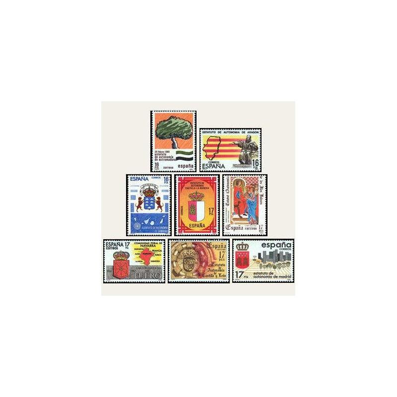 1984 España. Estatutos de Autonomía (Edif.2735/42) **