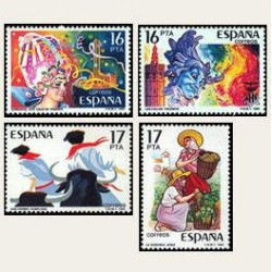 1984 España. Fiestas Populares Españolas (Edif.2744/47) **