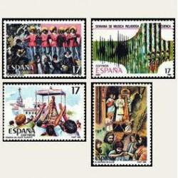 1986 España. Fiestas Populares Españolas. (Edif.2840/43) **