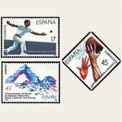 1986 España. Deportes. (Edif.2850/52) **
