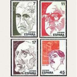 1986 España. Personajes. (Edif.2853/56) **