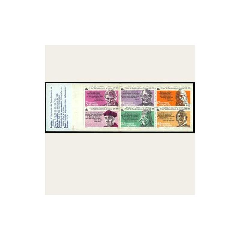 1986 España. V Cent. Des. de América. (Edif.2860 Carnet) **
