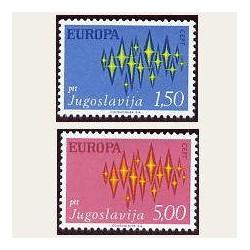 1972 Yugoslavia. Europa CEPT (Yver.1343/44) **