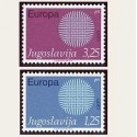 1970 Yugoslavia. Europa CEPT (Yver.1269/70) **