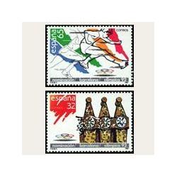 1987 España. Barcelona Sede Olímpica 1992 (Edif.2908/09) **