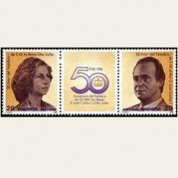 1988 España. 50º niv. de SS.MM. Los Reyes. (Edif.2927/28) **