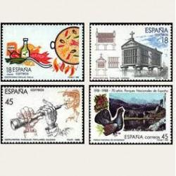 1988 España. Turismo. (Edif.2935/38) **