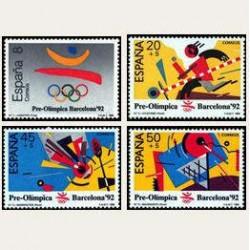 1988 España. Barcelon '92. Pre-Olímpica (Edif.2963/66) **