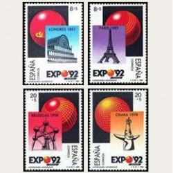 1989 España. Exposición Universal de Sevilla. (Edif.2990/93) **