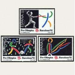 1989 España. Barcelona '92 - Pre-Olímpica. (Edif.3025/27) **