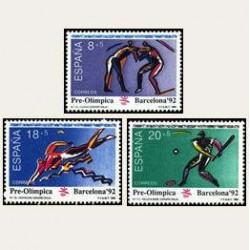 1990 España. Barcelona '92. Pre-Olimpica. (Edif.3076/78) **