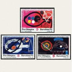 1991 España. Barcelona '92 Serie Pre-Olímpica. (Edif.3134/36) **