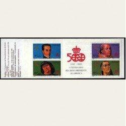 1991 España. V Cent. Desc. de América. (Edif.3137C) Carnet