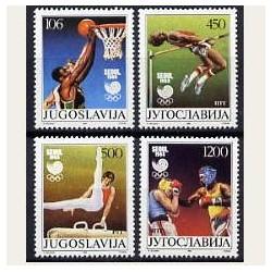 1988 Yugoslavia. Juegos Olimpicos de Seul. Yvert.2147/50 **