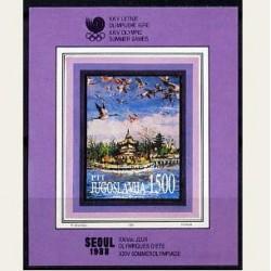 1988 Yugoslavia. Juegos Olimpicos de Seul. Yvert. HB-31 **