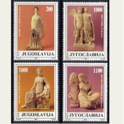 1988 Yugoslavia. Esculturas Griegas (Yver.2190/93) **