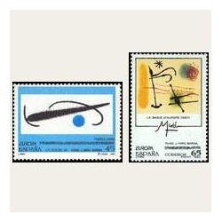 1993 Sellos de España (3250/51). Obras de Joan Miró.