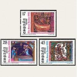 1993 Sellos de España (3252/54). Año Santo Jacobeo.
