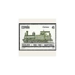 1993 Sellos de España (3265). Ferrocarril Igualada-Martorell.