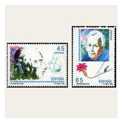 1993 Sellos de España (3267/68). Exploradores y Navegantes.