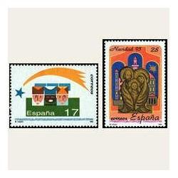 1993 Sellos de España (3273/3274). Navidad '93.