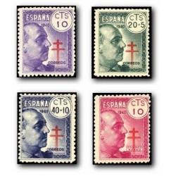 1940 Sellos de España (936/39). Pro-Tuberculosis.**