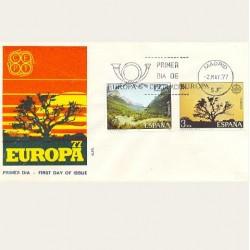 1977 SPD España. Europa CEPT. Edif.2413/14