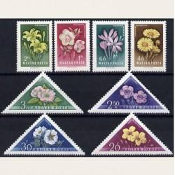1958 Hungría. Flores Diversas. (Yvert.1249/56) **
