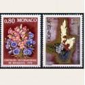 1977 Mónaco. Concurso Internacional de Ramos. (Yvert.1115/6) **