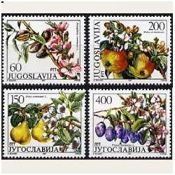 1987 Yugoslavia. Flores y Frutos. (Yvert.2100/3) **