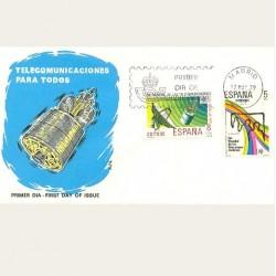 1979 SPD España. Día de las Telecomunicaciones. Edif.2522/23