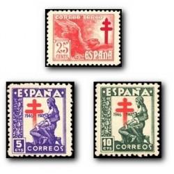 1946 Sellos de España. Pro Tuberculosis. (Edif. 1008/10) **