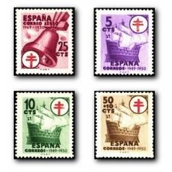1949 Sellos de España. (1066/69). Pro Tuberculosis.