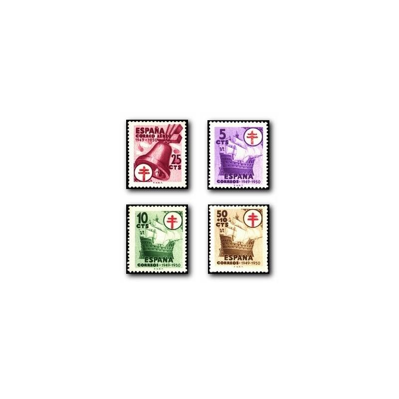 1949 Sellos de España. Pro Tuberculosis. Edif. 1066/69 *