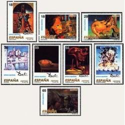 1994 Sellos de España (3289/96). Obras de Salvador Dalí.