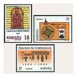 1994 Sellos de España (3309/11). Efemérides.