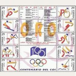1994 Sellos de España (3325/34). Deportes. Olímpicos de Oro.