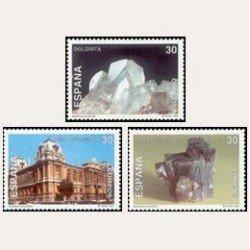 1995 Sellos de España (3343/45). Minerales de España.