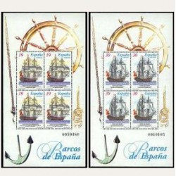 1995 Sellos de España (3352/53). Barcos de Época.