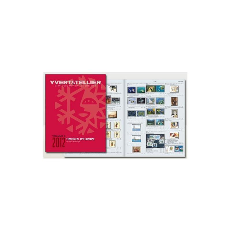 Catálogo de Sellos Yvert et Tellier P. Europa vol. III de I a la P 2012